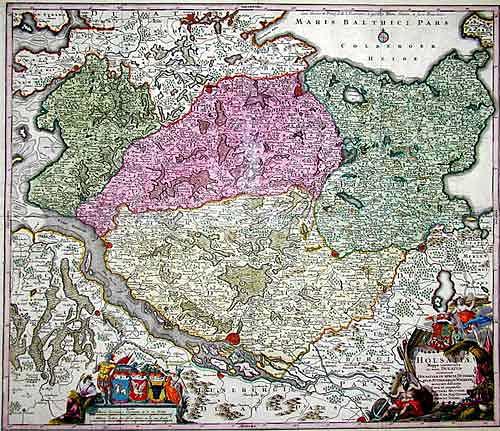 Seutter  Holsatiae Mappa Universalis … Holsatiam in Specie Ditmarsiam, Stormariam, Wagriam…