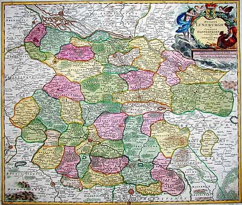 Homann Johann Babtiste Ducatus Luneburgici et Comitatus Dannebergensis