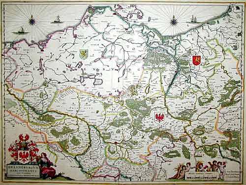 Blaeu Willem Janszoon Brandenburgum Marchionatus cum Ducatibus Pomeraniae et Mecklenburgi