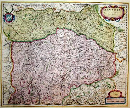 Janssonius  Bavarie superiorus et inferioris
