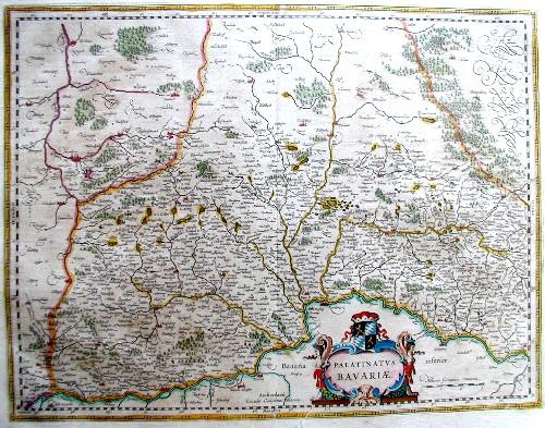 Blaeu  Palatinatus Bavarie