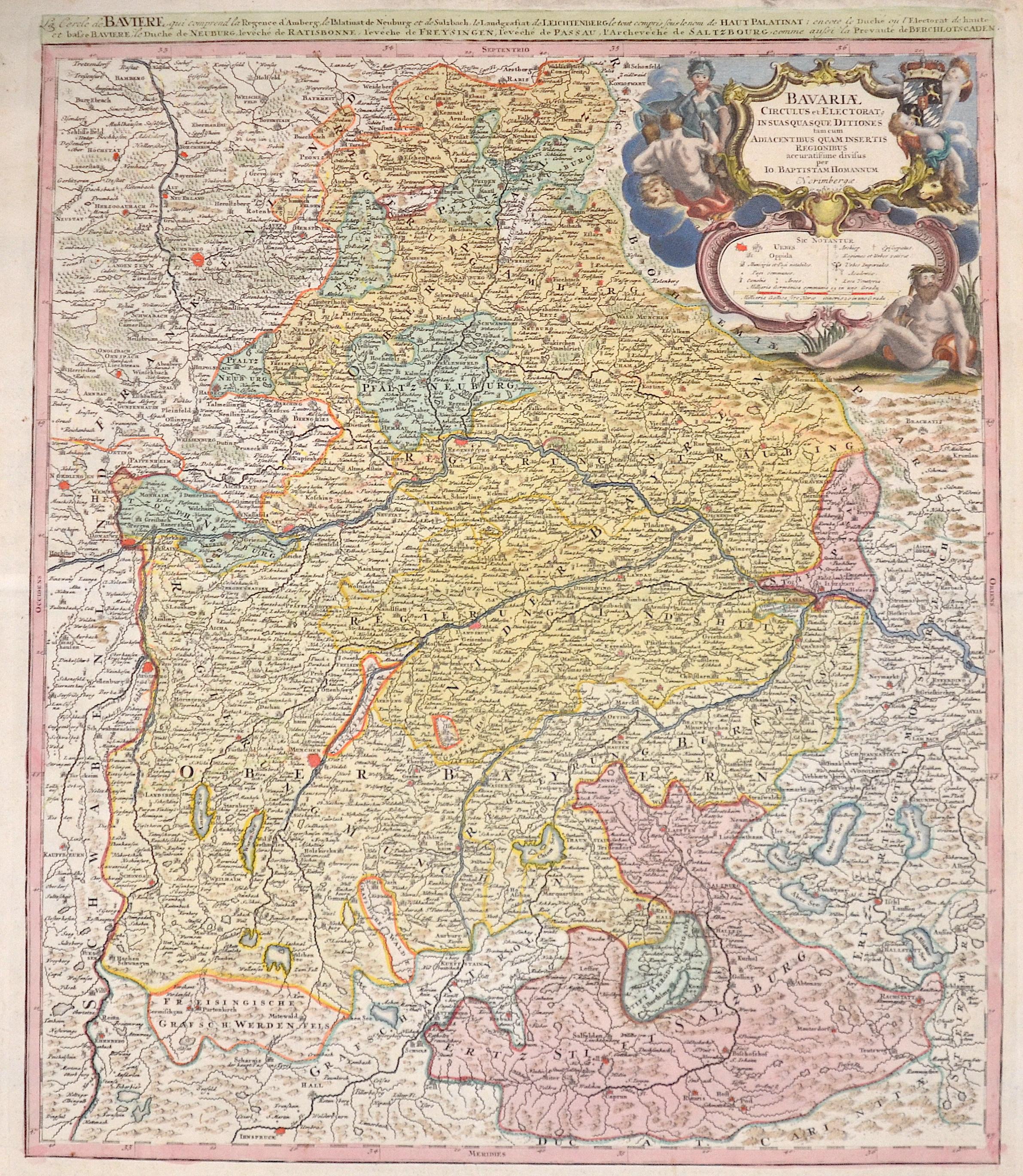 Homann  Bavariae circulus et electorat