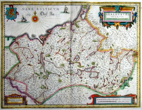 Janssonius Johann Mecklenburg Ducatus