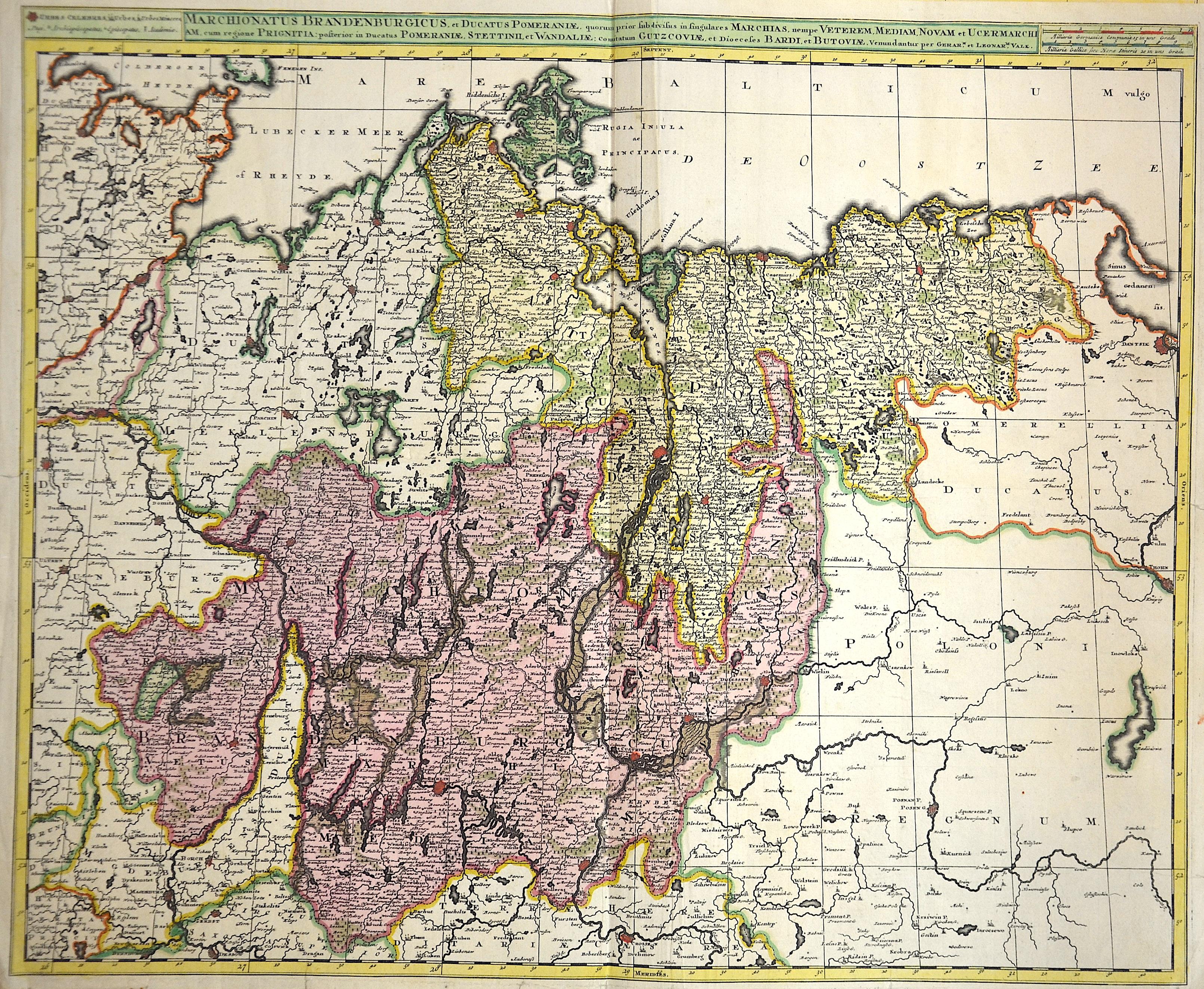 Valk Gerard Marchionatus Brandenburgicus et ducatus Pomeraniae