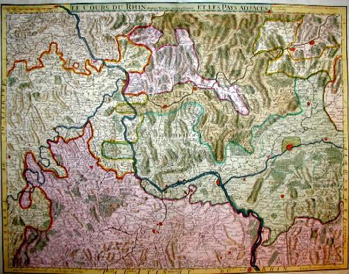 Dezauche/de l´Isle,  Le cours du Rhin depuis Worms jus´qua Bonn