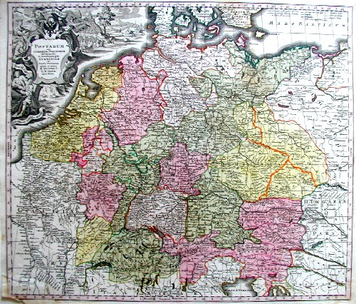Seutter Matthias Postarum seu cursorum publicorum diverticula et mansiones per Germaniam….