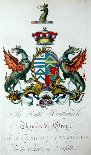 Edmondson  The Right Honourable Thomas-de-Grey Baron Walsingham of Walsingham in the county of Norfolk