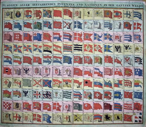 Homann Johann Babtiste Flaggen aller Seefahrenden Potenzen und Nationen in der gantzen Weldt