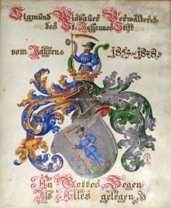 Anonymus  Sigmund Wisbauer Verwalter des St. Johannes Stift von Jahren 1854 – 1878, /An Gottes Segen ist alles gelegen