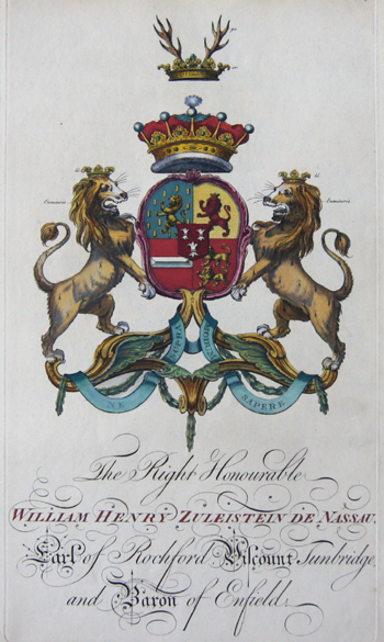 Edmondson J. The Right Honourable William Henry Zuleistein de Nassau Karl of Rochford Viscount Tunbridge and Baron of Enfield