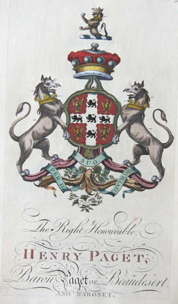 Edmondson J. The right honourable Henry Paget Baron Paget of Beaudestert an Baronet