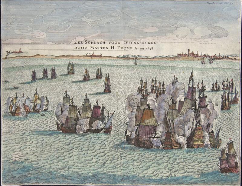 Nieuwenhuisen/Snellaert Gerrit Zee Schlach voor Duynkercken Door Marten H. Tromp Anno 1638.