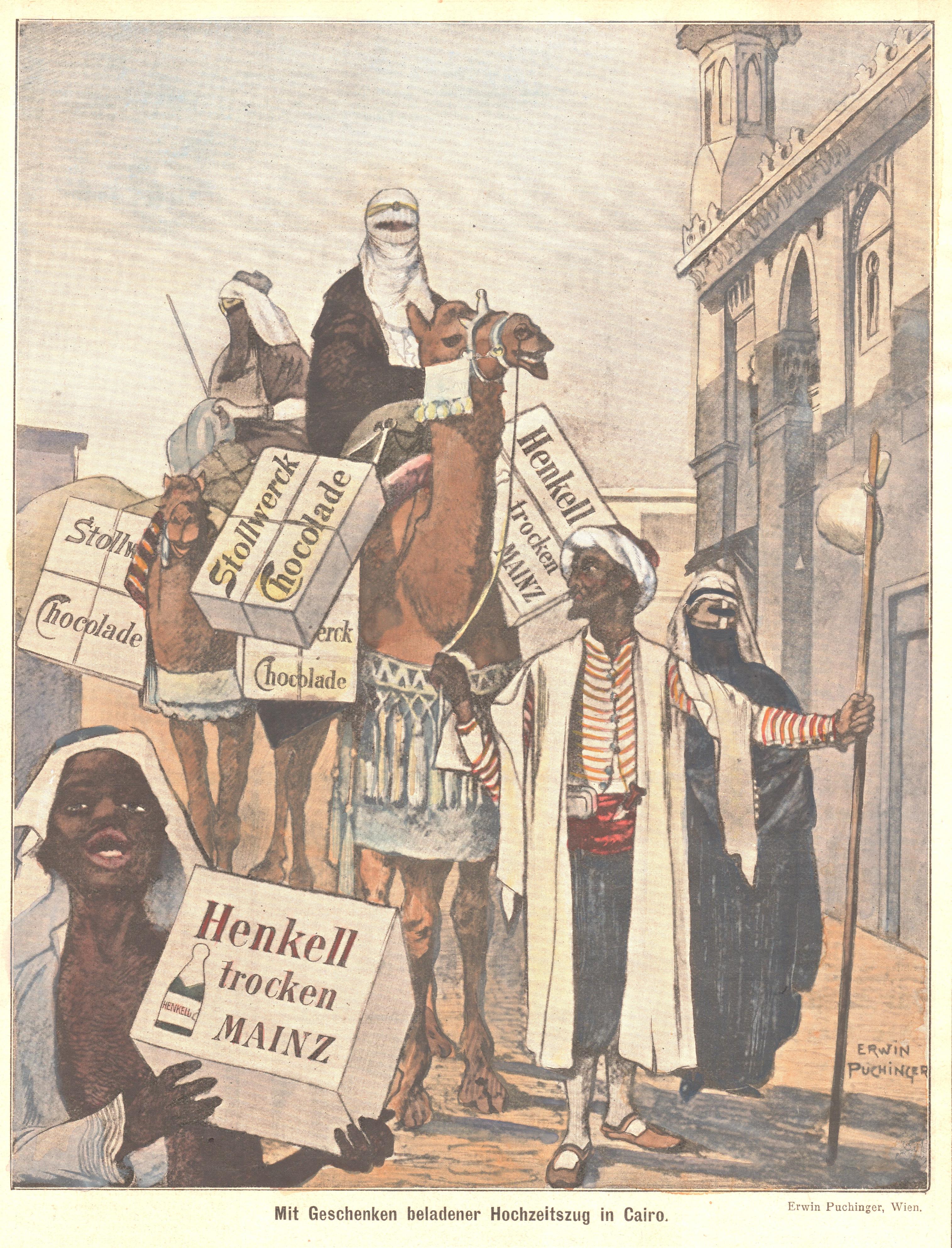 Puchinger Erwin Mit Geschenken beladener Hochzeitszug in Cairo