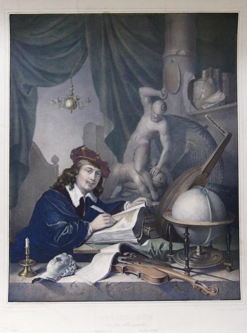 Hanfstaengel Franz Gerard Dow von ihm selbst gemalt. Original von derselben Grösse.