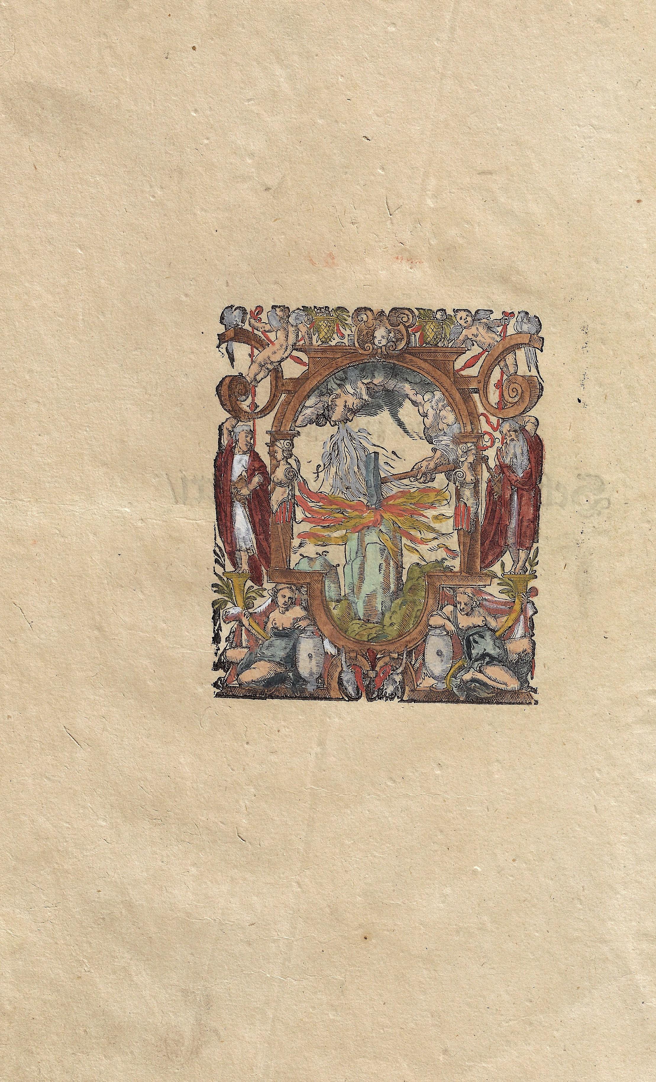 Henricpetri Sebastian no title: on reverse text: gedruckt zu Basel durch Sebastianum Henricpetri im jahr nach der gnadreichen Geburt Jesu Christi M.D.XCIIX.