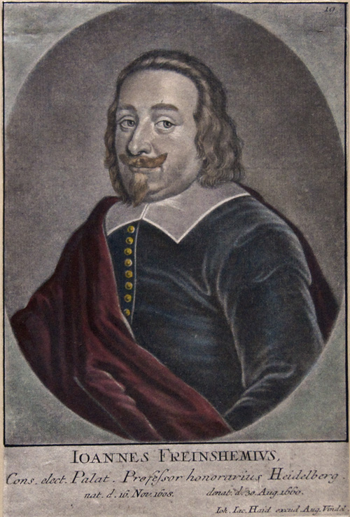Haid Johann  Jacob Joannes Freinshemius, Cons. Elect. Palat. Professor honorarius Heidelberg.