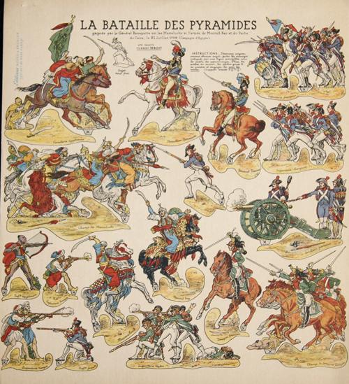 Anonymus  La Bataille des Pyramides gagnée par le Général Bonaparte sur les Mamelucks et l'armée de Mourad-Bey et du Pacha du Caire, le 21 Juillet 1798