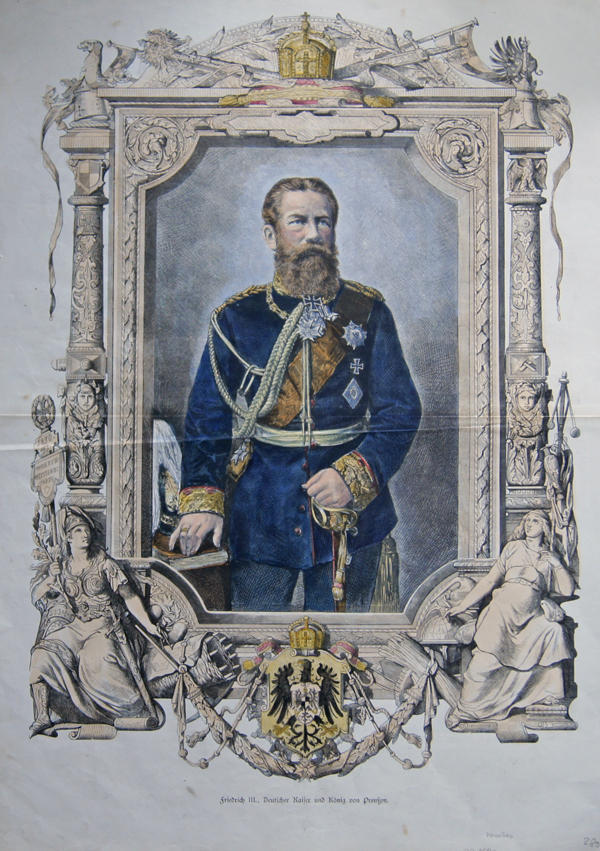 Anonymus  Friedrich III., Deutscher Kaiser und König von Preußen.
