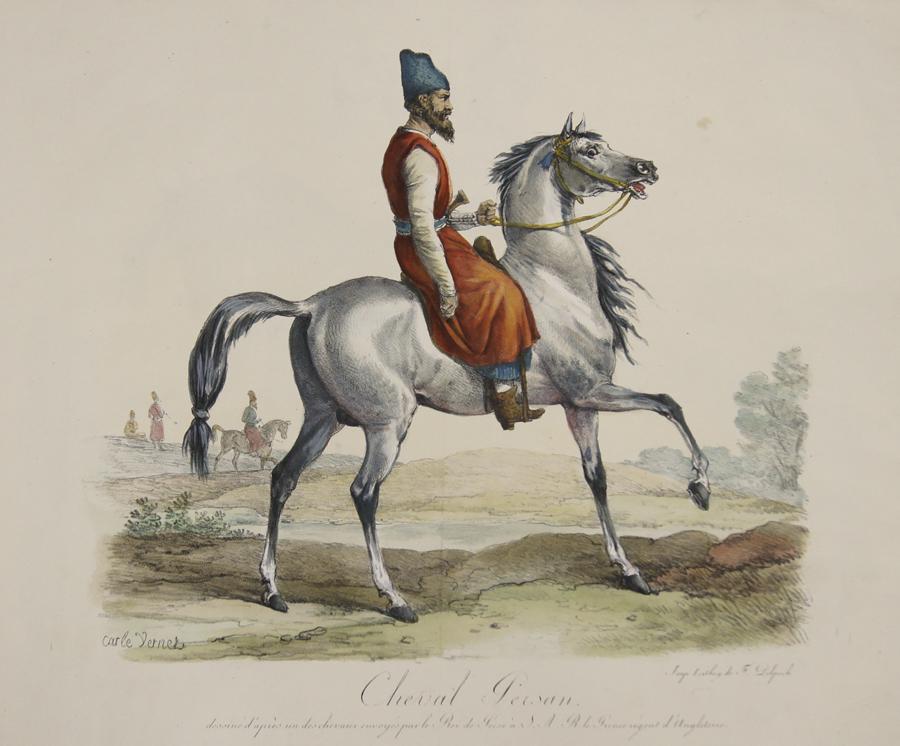 Vernet Antoine Charles Horace ( Carl) Cheval Persan.