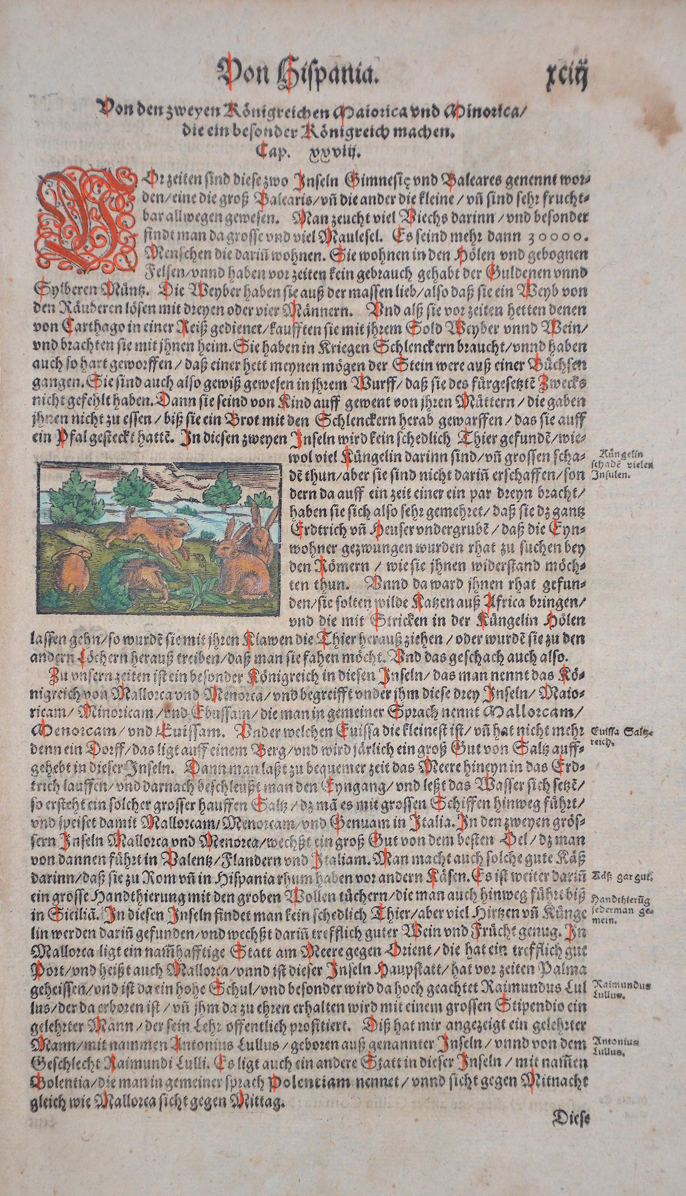 Münster Sebastian Von Hispania. Von den zweyen Königreichen Maiorica und Minorica / die ein besonder Königreich machen.