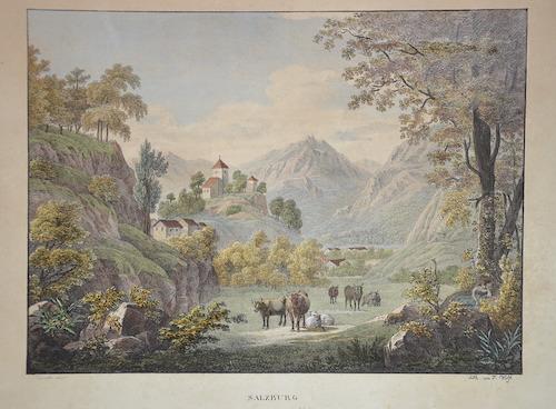 Kunike  Salzburg Ansicht von Mönchsberg