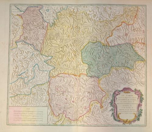 Vaugondy, de Didier/ Gilles Robert Le Tyrol sous le nom duquelle l´on comprend le compte de Tyrol….