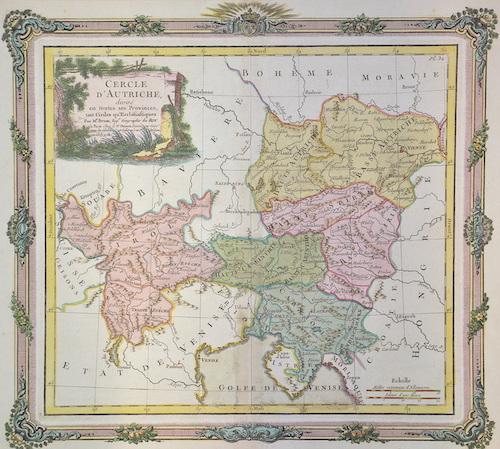 Desnos Louis Charles Cercle d ´Autriche divisee en toutes ses Provinces..