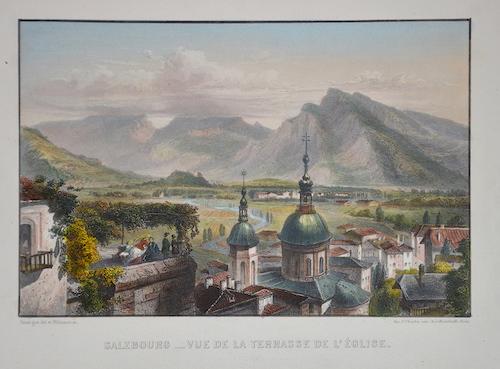 Chardon F. Salzbourg- Vue de la terrasse de l´ église