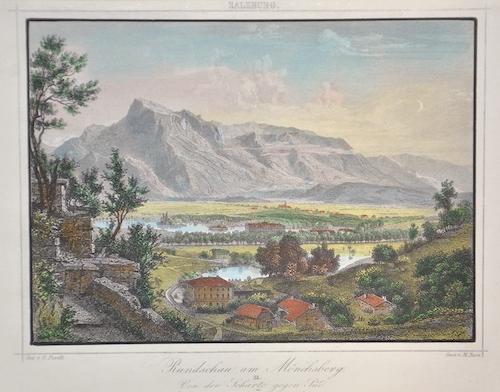Pezolt  Rundschau am Mönchsberg. II Von der Scharte gegen Süd