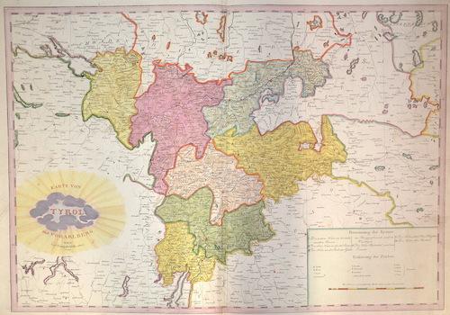 Mollo  Karte von Tyrol und von Vorarlberg