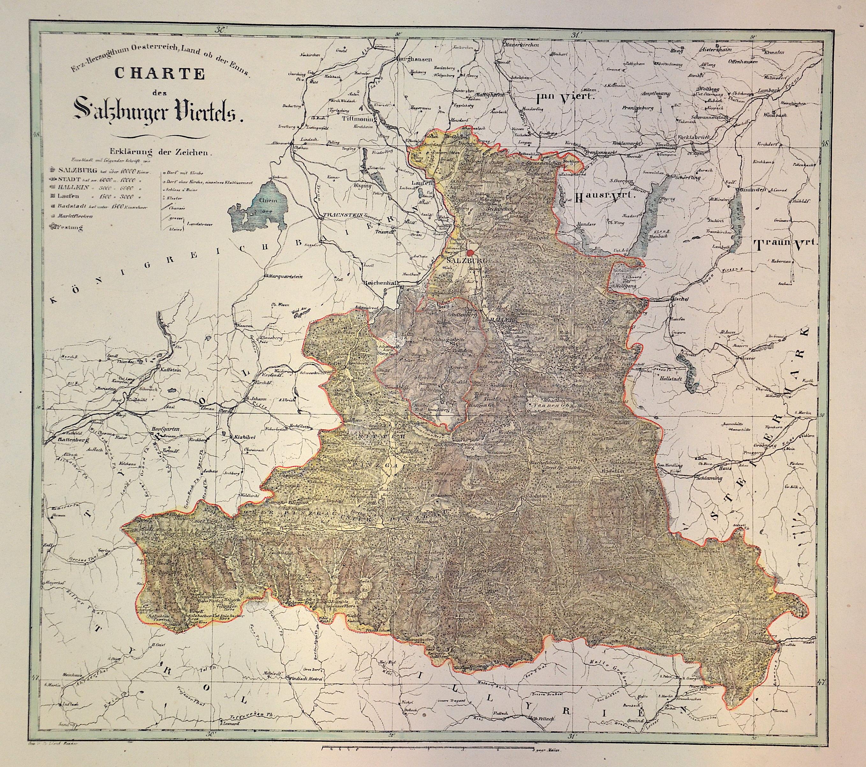 Renner  Erz-Herzogthum Oesterreich, Land ob der Enns. Charte des Salzburger Viertels.