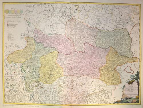 Reilly  Karte von dem Erzherzogtum Oesterreich oder dem Lande ob und unter der Enns