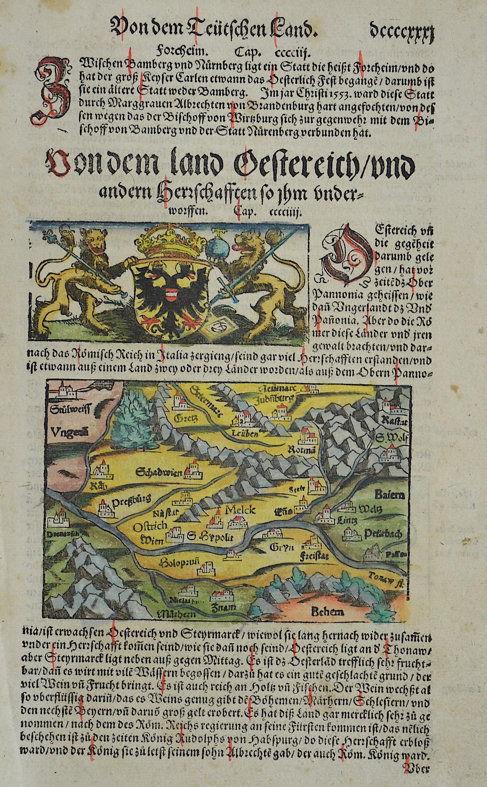 Münster  Von dem ladt Oestereich/und andern Herrschafften so ihn underworfen