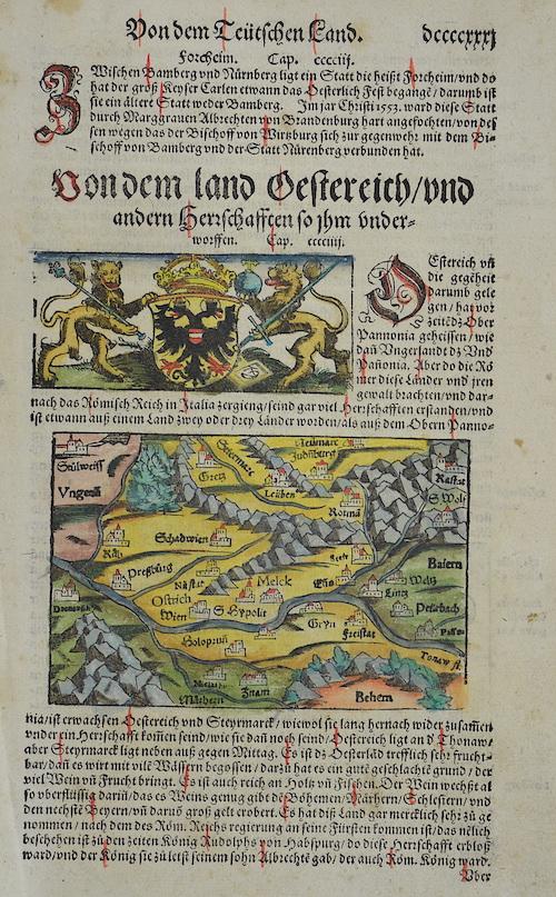 Münster Sebastian Von dem ladt Oestereich/und andern Herrschafften so ihn underworfen