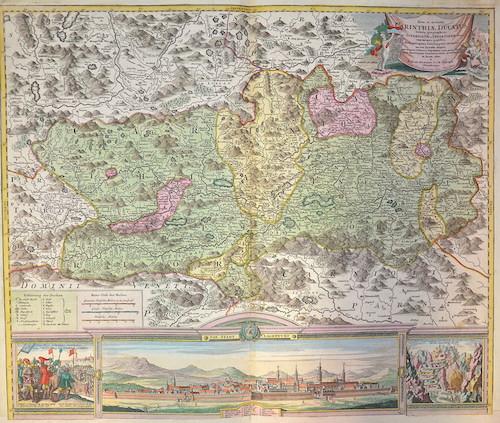 Homann  Nova et accurata Carinthiae ducatusTabula geographica ….