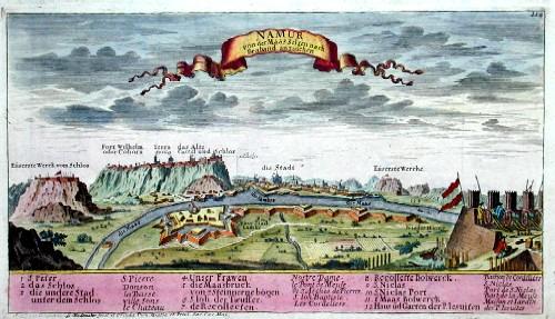 Bodenehr Johannes Georg Namur von der Maas Seiten nach Braband anzusehen