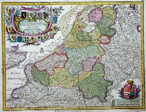 Seutter Matthias XVII. Provinciae Belgii sive Germaniae inferioris prise. temporip Circ. Burgundico….