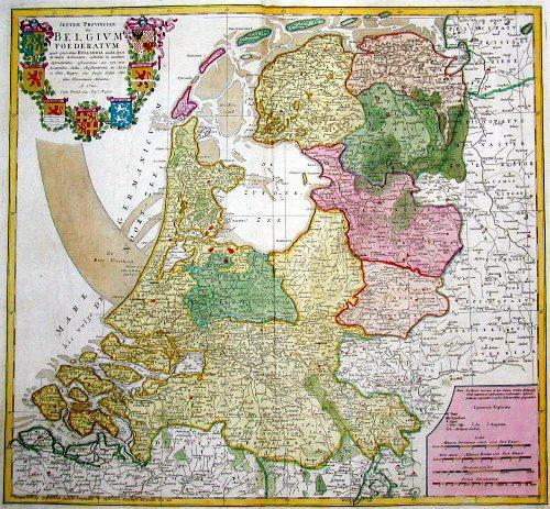 Homann Erben  Septen Provinciae seu Belgium foederatum quod generaliter Hollandia audit,….