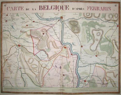 Ferraris  Carte de la Belgique d´aprés Ferraris
