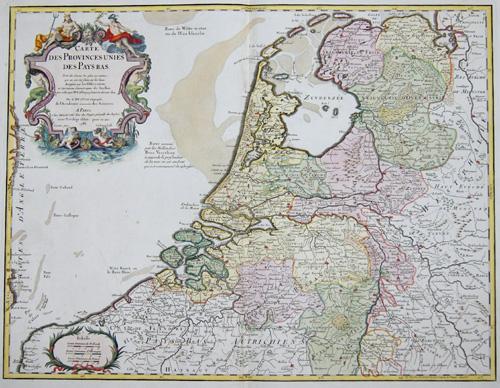 Dezauche/de l´Isle, J.C. / Guillaume Carte des Provinces unies des Pays Bas