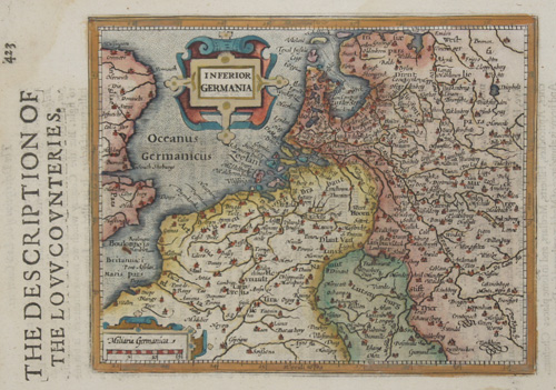 Hondius/Sparke Joducus The description of the low counteries/ Inferior Germania