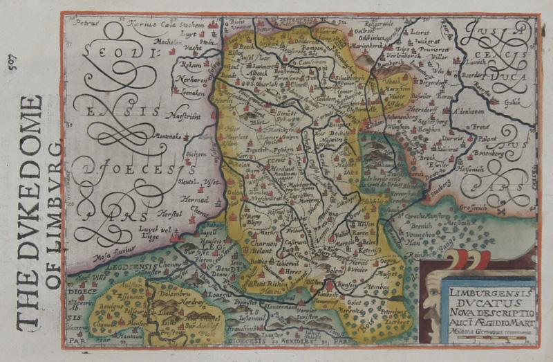 Hondius/Sparke Joducus Limburgensis ducatus nova descriptio auct. Aegidio Mart.