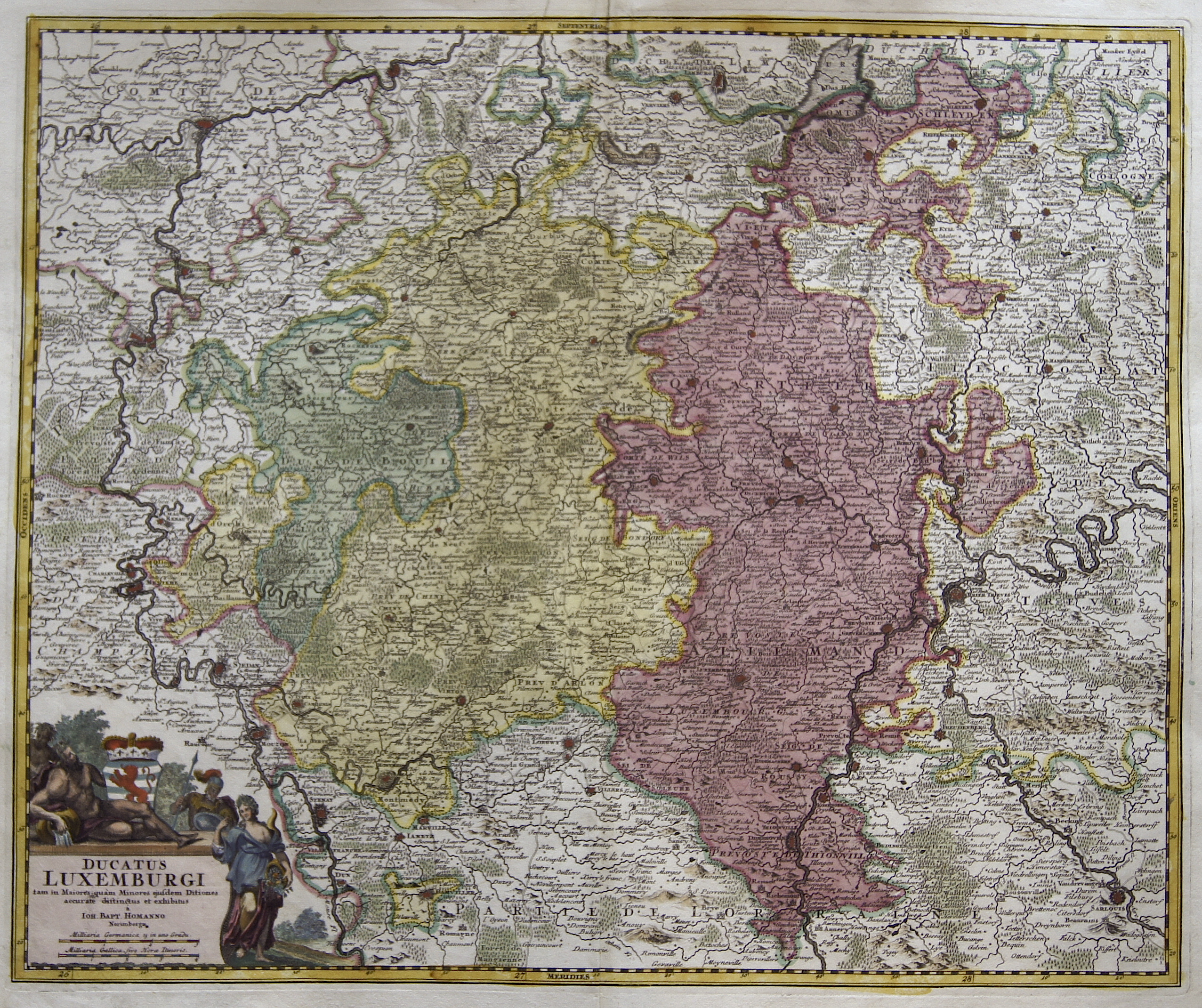 Homann  Ducatus Luxemburgi tam in Maiores quam Minores ejusdem Ditiones …