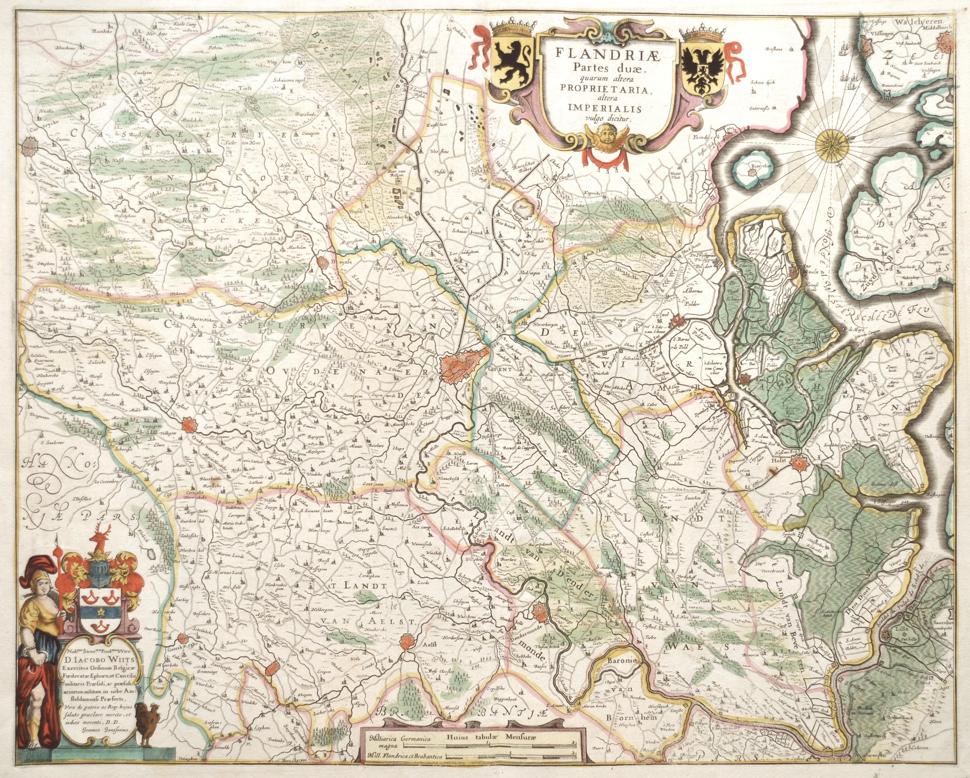 Janssonius Johann Flandriae Partes duae, quarum altera Proprietaria, altera Imperialis vulgo dicitur,