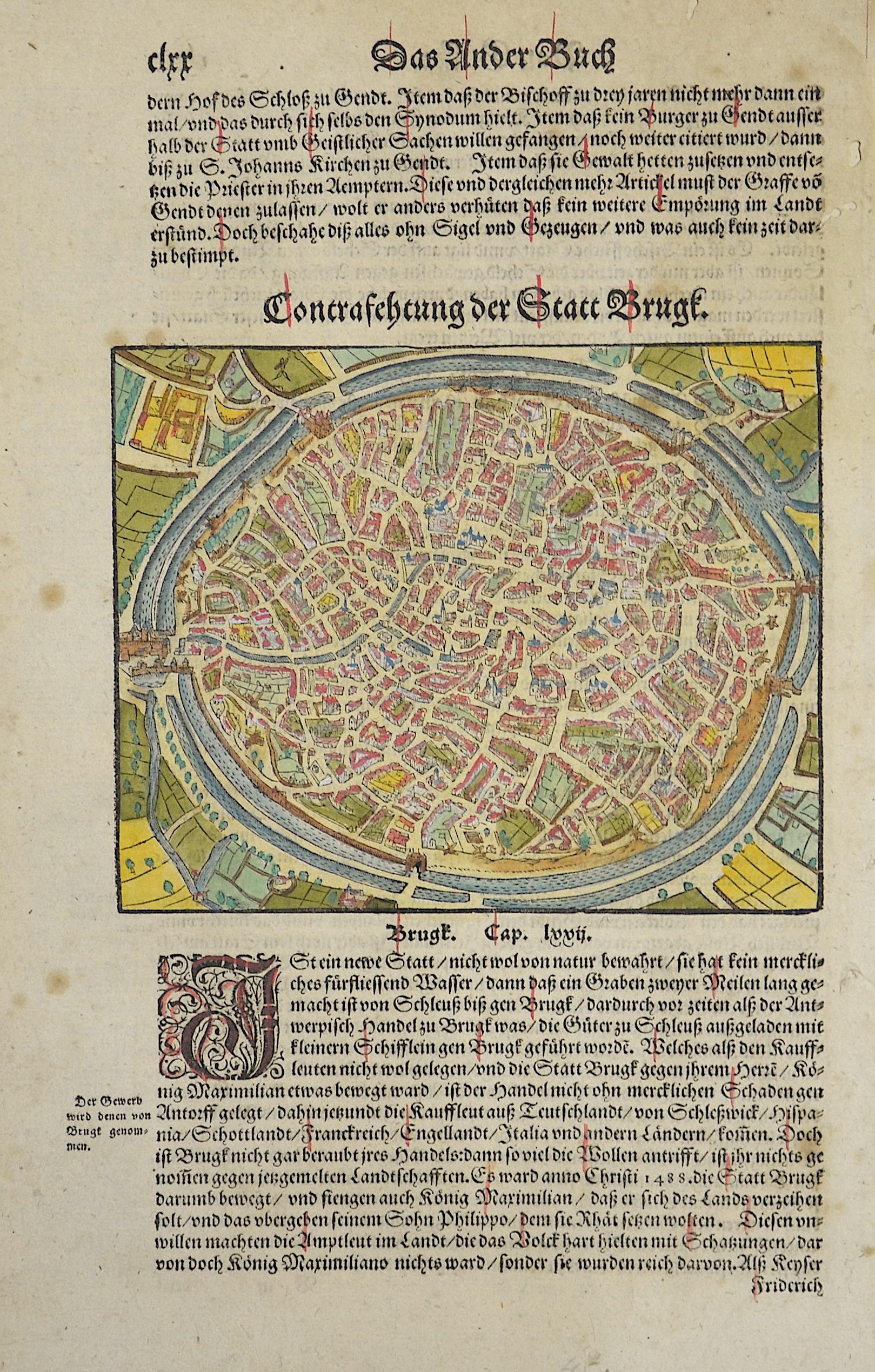 Münster Sebastian Contrafehtung der Statt Brugk.
