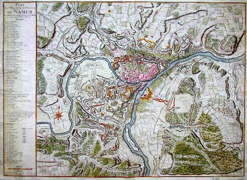Jaillot  Plan des Villes Forts et chateaux de Namur