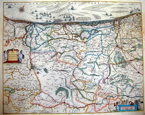 Blaeu Willem Janszoon Pars Flandria tevtonica