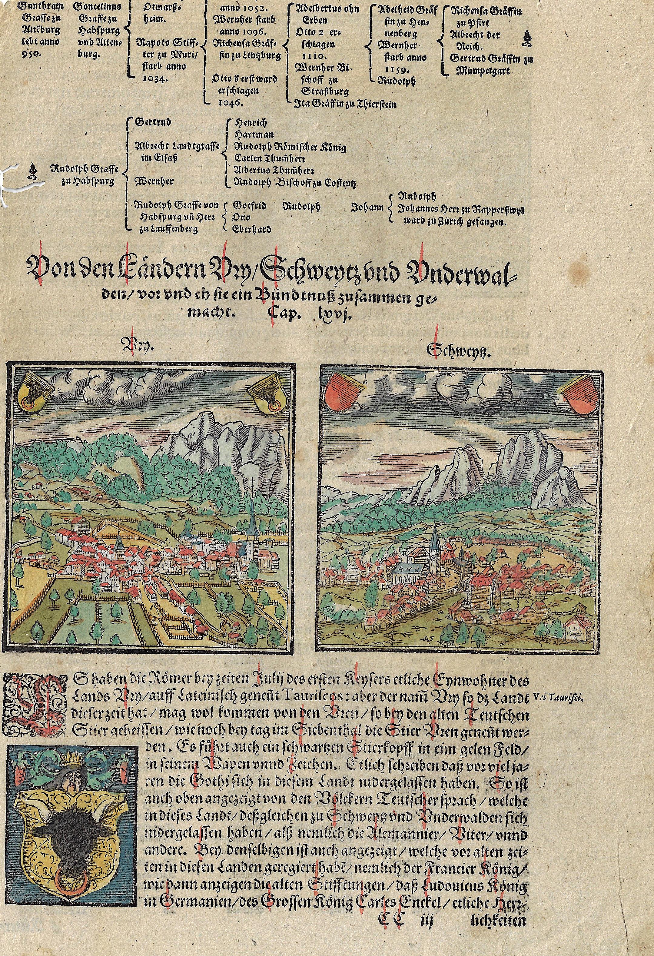 Münster Sebastian Von den ländern Ury, Schweitz und Underwalden vor und eh sie ein Bundtnuß zusammen gemacht