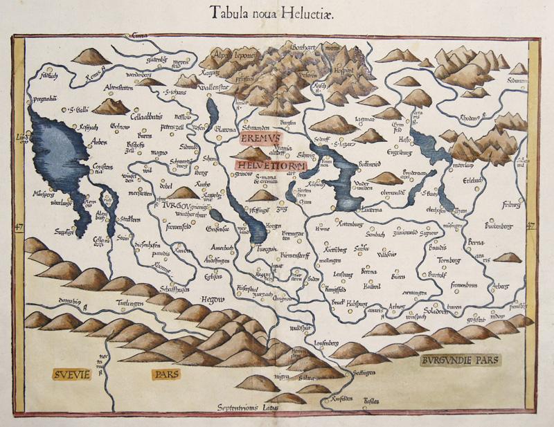 Ptolemy/ Fries Claudius/ Laurent ( Lorenz) Tabula noua Helvetiae