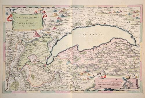 Blaeu Willem Janszoon Ducatus Chablasius et Lacus Lemanus cum Regioniscus adjecentibus